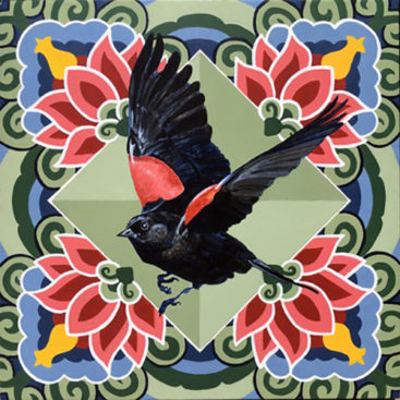 alison hamil paintings blackbirds