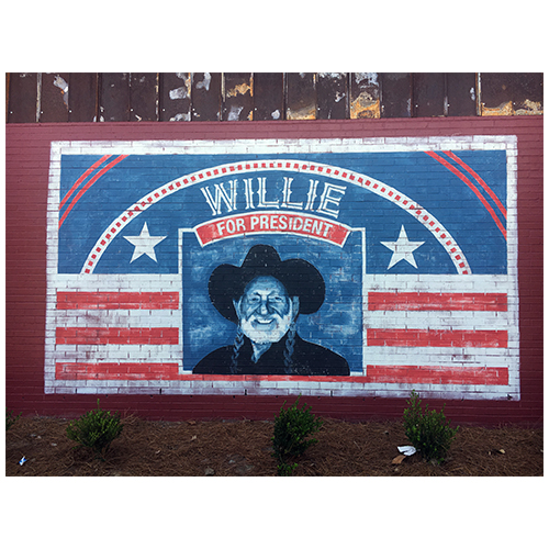 Wilmington mural Willie Nelson