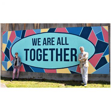 Mayor John Ernst We Are All Together Mural